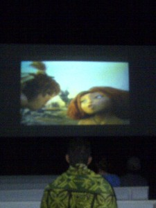 The Croods, playing at the PMRF Outdoor Movie Theater. Photo by Will Vince