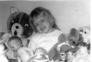 My love for stuffed animals started at a young age.
