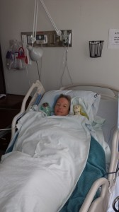 In recovery room.