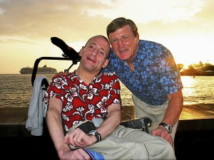 Dick and Rick Hoyt. Photo courtesy of www.TeamHoyt.com