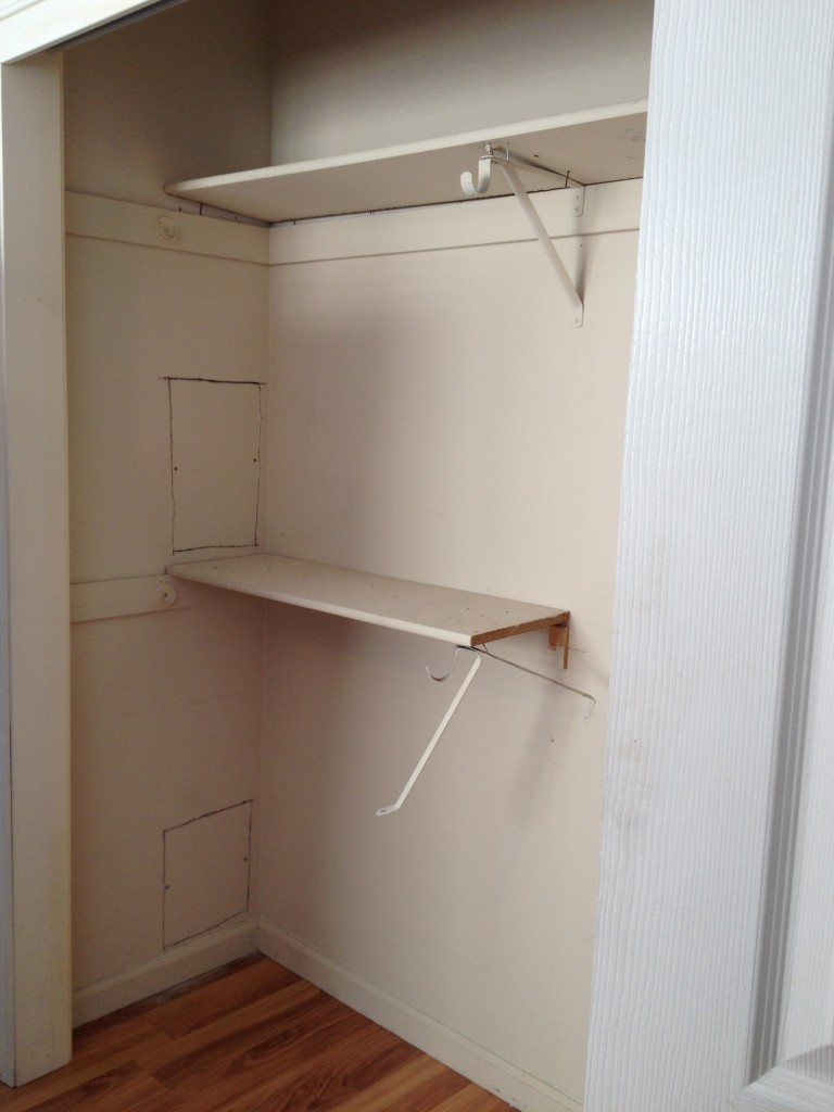 Closet, before renovation