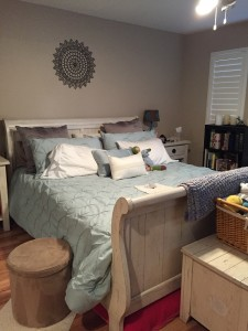 Bedroom after Decluttering. Photo by Suzanne Whitfield Vince