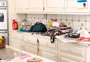 A Cluttered Kitchen. Photo courtesy of Google Images