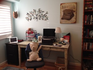 My writing room. Photo by Suzanne Whitfield Vince